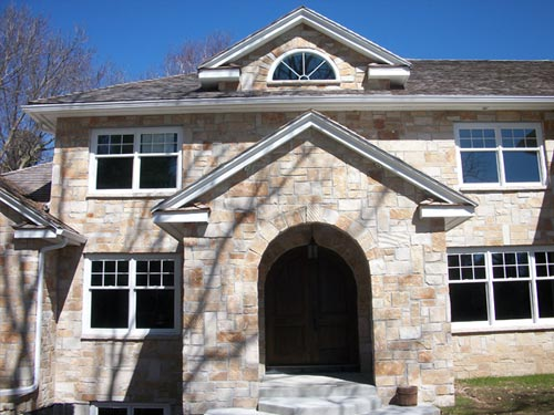 Home Front Entrance Stone Work